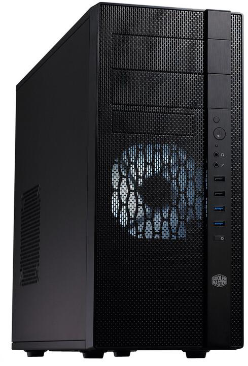 CoolerMaster N400, bez zdroje, černá