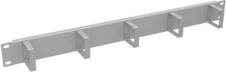"""Solarix vyvazovací panel 19"""", 1U, RAL 7035, ocelový VP-01"""