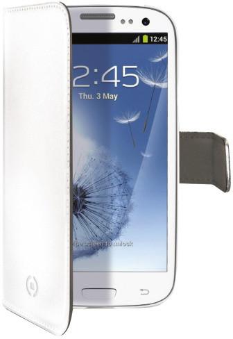 CELLY Wally pro Samsung Galaxy S III/ S III Neo, PU kůže, bílá