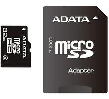 ADATA Micro SDHC 32GB Class 4 + adaptér - AUSDH32GCL4-RA1