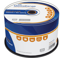MediaRange DVD+R 4,7GB 16x, Spindle 50ks - MR445