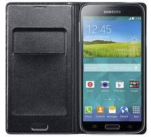 Samsung flipové pouzdro s kapsou EF-WG900B pro Galaxy S5, černá - EF-WG900BBEGWW