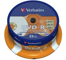 Verbatim DVD-R Archival-Printable 8x 4,7GB spindl 25ks - 43634
