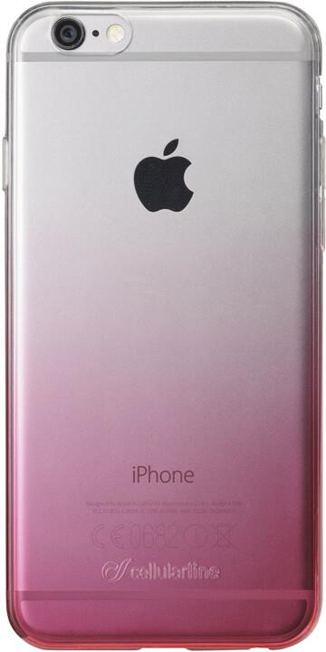 CellularLine průhledný zadní kryt SHADOW pro Apple iPhone 6/6S, TPU, růžová