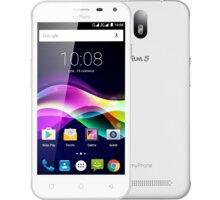 myPhone FUN 5, bílá - TELMYAFUN5WH + Zdarma CulCharge MicroUSB kabel - přívěsek (v ceně 249,-)