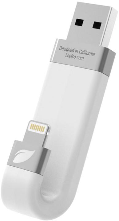 Leef iBRIDGE - 256GB, Lightning, bílá