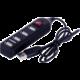 Crono USB HUB 4 porty, USB 2.0, vypínač, černá