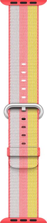 Apple watch náramek 38mm Red Woven Nylon