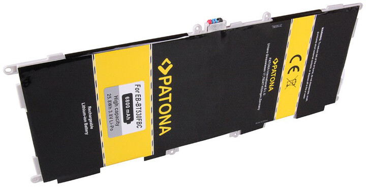 Patona baterie pro tablet PC Samsung Galaxy Tab 4 10.1 6800mAh 3,8V Li-Pol + nářadí