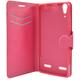 FIXED Pouzdro typu kniha s gelovou vaničkou pro Lenovo A6000, červené