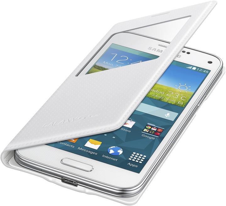 Samsung flipové pouzdro S-view EF-CG800B pro Galaxy S5 mini (SM-G800), bílá