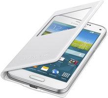 Samsung flipové pouzdro S-view EF-CG800B pro Galaxy S5 mini (SM-G800), bílá - EF-CG800BHEGWW