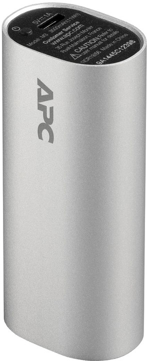 APC Mobile Power Bank, 3000mAh, stříbrná