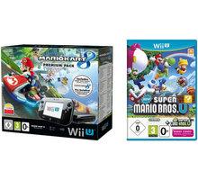 Nintendo Wii U Premium Pack, černá + Mario Kart 8 + New Super Mario Bros U + New Super Luigi U - NIUH081