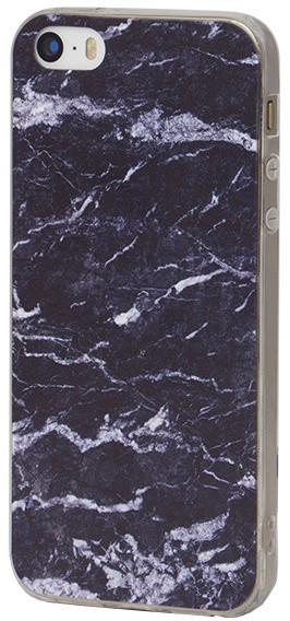 EPICO pružný plastový kryt pro iPhone 5/5S/SE MARBLE - modrý