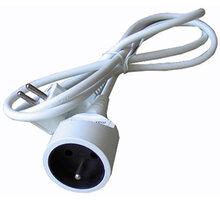 Solight prodlužovací kabel - spojka, 1 zásuvka, bílá, 1,5m - PS01