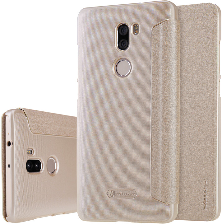 Nillkin Sparkle Leather Case pro Xiaomi Mi 5S Plus, zlatá