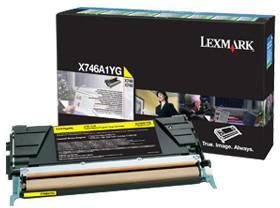 Lexmark X746A1YG, žlutá, return