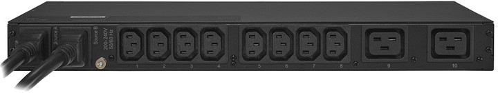 CyberPower Rack Metered Automatic Transfer Switch (ATS), 1U, 16A