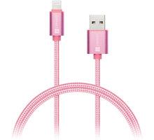 Connect IT Wirez Premium Metallic Lightning - USB, rose gold, 1m - CI-970
