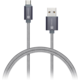 CONNECT IT Wirez Premium Metallic micro USB - USB, silver gray, 1m
