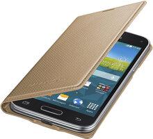 Samsung flipové pouzdro EF-FG800B pro Galaxy S5 mini (SM-G800), zlatá - EF-FG800BDEGWW