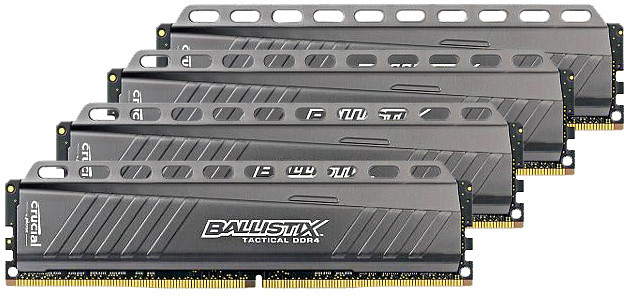 Crucial Ballistix Tactical 32GB (4x8GB) DDR4 2666