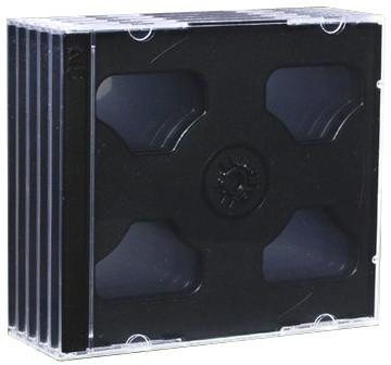 CD Box na 2 CD, černá, 5ks