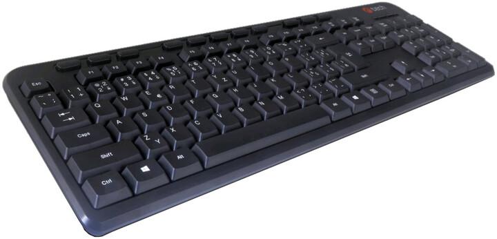 C-TECH KB-102M-U-BL, CZ, černá