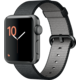 Apple Watch 2 38mm Space Grey Aluminium Case with Black Woven Nylon Band