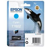 Epson T7602, (25,9ml), cyan - C13T76024010
