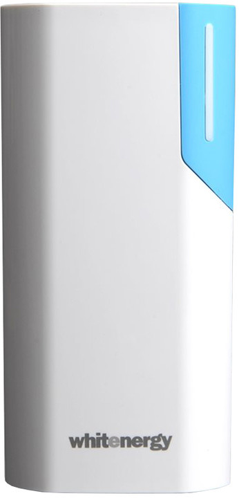 Whitenergy Power Bank 4000mAh 1A Li-Ion, bílá/modrá