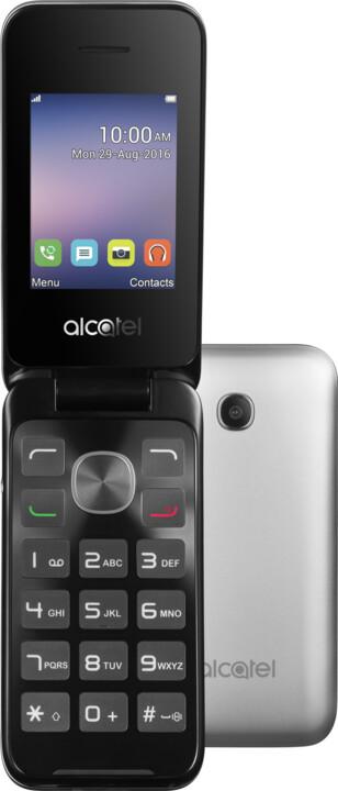 ALCATEL 2051D, stříbrná