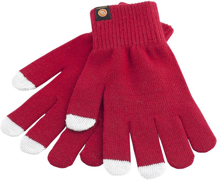 GoGEN Rukavice pro dotykové displeje, M, červená