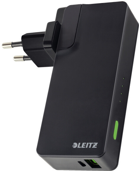 Leitz Complete USB Travel Wall Charger and Power Bank 3000