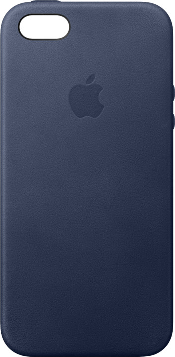 Apple iPhone SE Leather Case, Midnight Blue