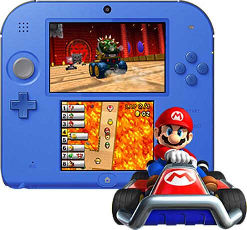 Nintendo 2DS černá/modrá + Mario Kart 7