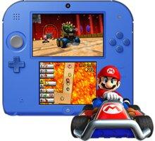 Nintendo 2DS černá/modrá + Mario Kart 7 - NI3H912