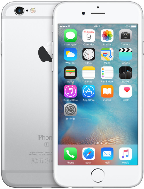 Apple iPhone 6s 128GB, stříbrná