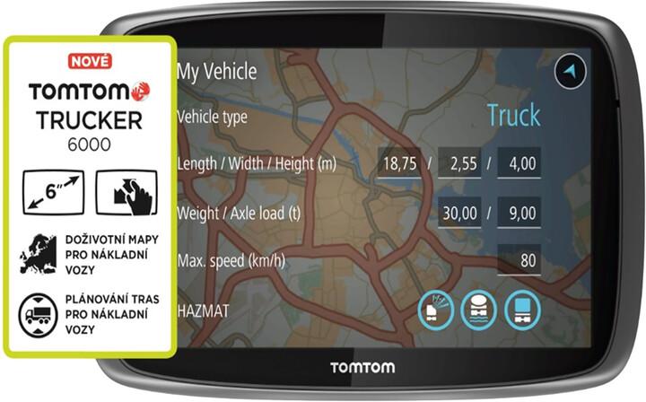 TOMTOM TRUCKER 6000, Lifetime mapy