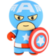 Lazerbuilt Marvel Kawaii 2600 mAh Captain America powerbanka