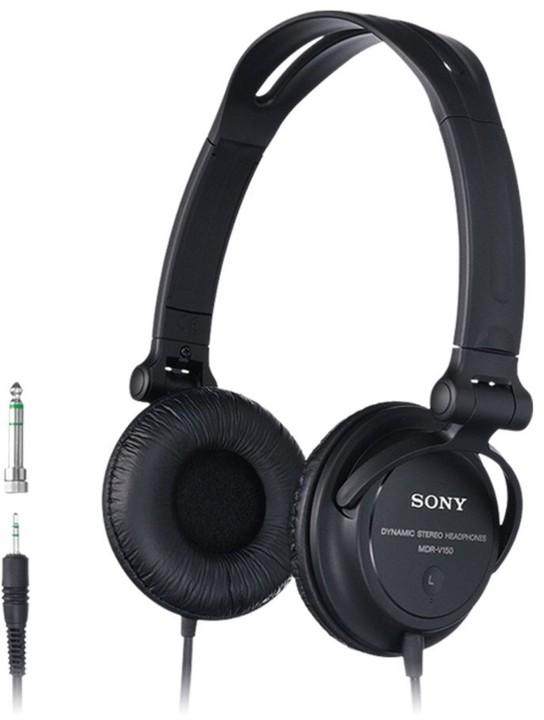 Sony MDR-V150B, černá