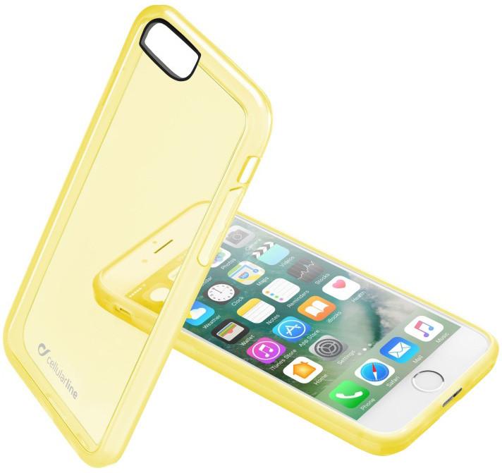 CellularLine Color průhledný zadní kryt pro Apple iPhone 7, žlutá