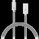 CONNECT IT Wirez Steel Knight Micro USB - USB, metallic silver, 2,1A, 1 m