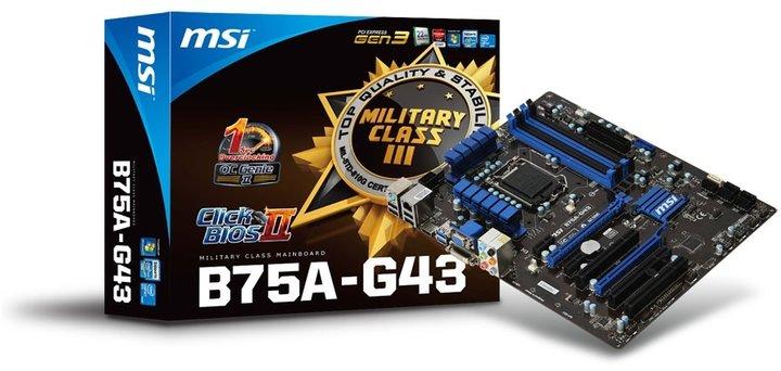 MSI B75A-G43 - Intel B75