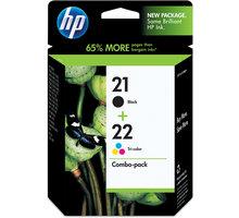 HP SD367AE, č. 21, č. 22, černá + barevná, Combo Pack – ušetřete až 20 % oproti standardní náplni + Zdarma SAFEPRINT A4 20 listů, lesklý ( v ceně 121,- )