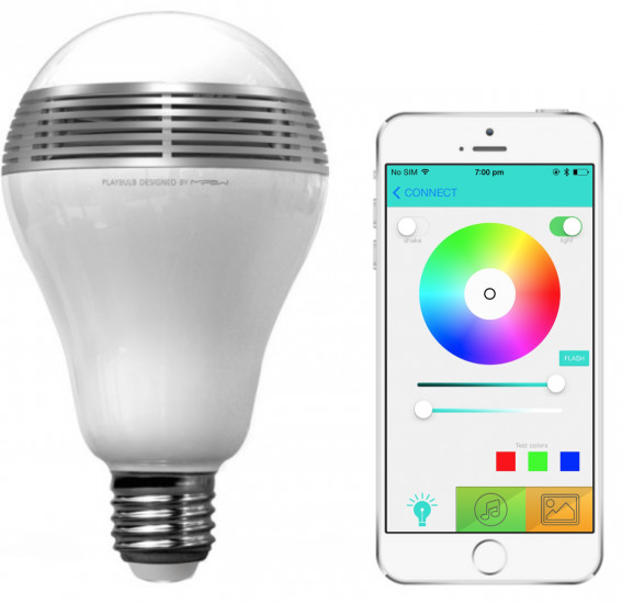 MiPow Playbulb™ Color chytrá LED Bluetooth žárovka s reproduktorem