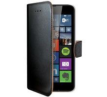 CELLY Wally pouzdro pro Microsoft Lumia 640, PU kůže, černá - WALLY477