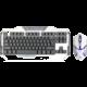 Set KB a myš E-Blue Auroza, bílý, US