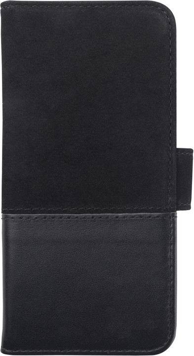 HOLDIT Wallet Case magnet Apple iPhone 6s,7 - Black Leath/Sued